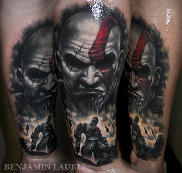 Kratos God War Tattoos God of War Kratos Tattoo