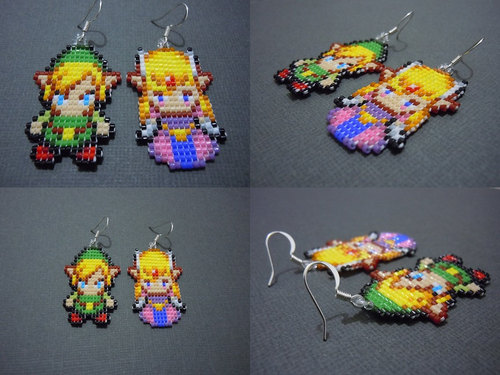 Link and Zelda Earrings