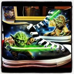 Spectacular Hand Painted Yoda Shoes [pic]