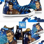 Amazing Hand Painted 10th and 11th Doctor Converse Chucks [pic]