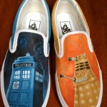 Fantastic Hand Painted Doctor Who Shoes [pic]