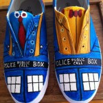 Awesome Hand Painted Doctor Who Sneakers [pic]