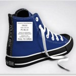 Custom Designed Doctor Who TARDIS Converse Sneakers [pic]