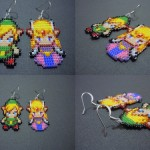 Adorable Handmade Legend of Zelda Link and Zelda Earrings [pic]