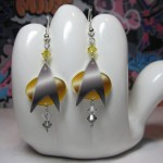 These Star Trek Combadge Earrings Would Look Great on Any Star Trek Fan [pic]
