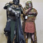 Steampunk Boba Fett and Steampunk Doctor Doom Cosplay [pic]