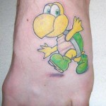 Super Mario Bros Koopa Troopa Foot Tattoo [pic]