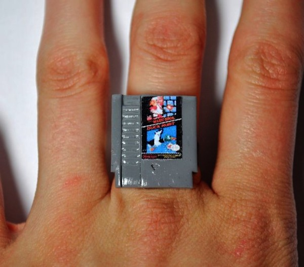 Super Mario Bros NES Cartridge Rings