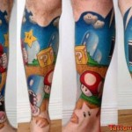 Stunning Super Mario Bros Tattoo [pics]