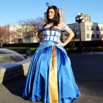 The Beautiful TARDIS Ballgown is Finished [pics]