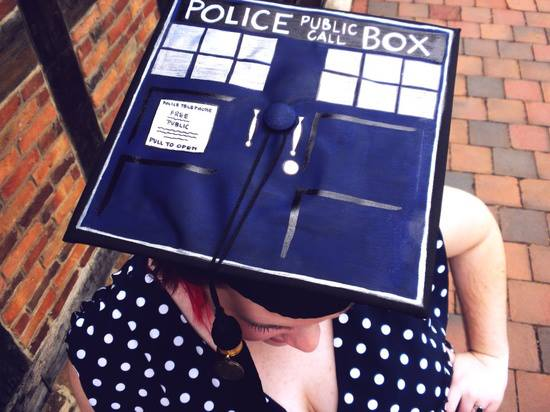 TARDIS Graduation Cap