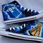 Spectacular Hand-Painted Doctor Who Shoes