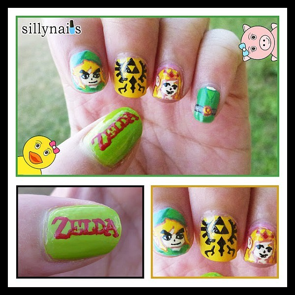 Legend of Zelda Fingernail Art