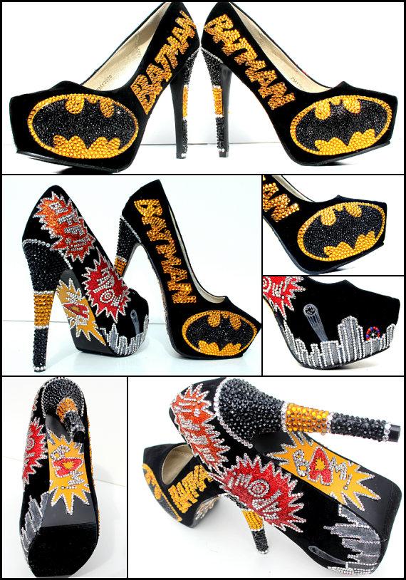 Batman High Heel Shoes