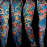 This Batman Sleeve Tattoo is Amazing!