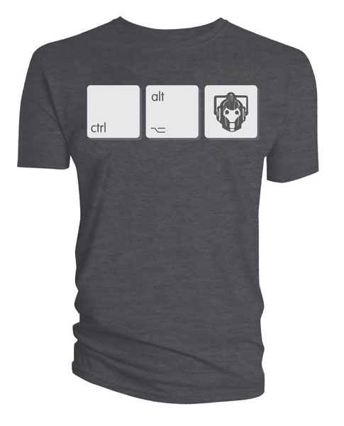 Doctor Who Cyberman Ctrl Alt Del T-Shirt