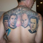 An Impressive Star Trek Back Tattoo