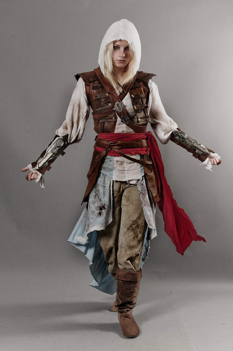 Amazing Assassin S Creed Black Flag Female Edward Kenway Cosplay