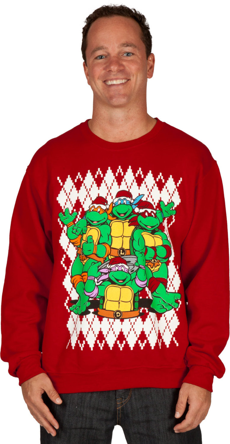 Teenage Mutant Ninja Turtles Christmas Faux Ugly Sweater | Fanboy ...